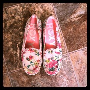 Roxy Brand Floral Slip on Shoes